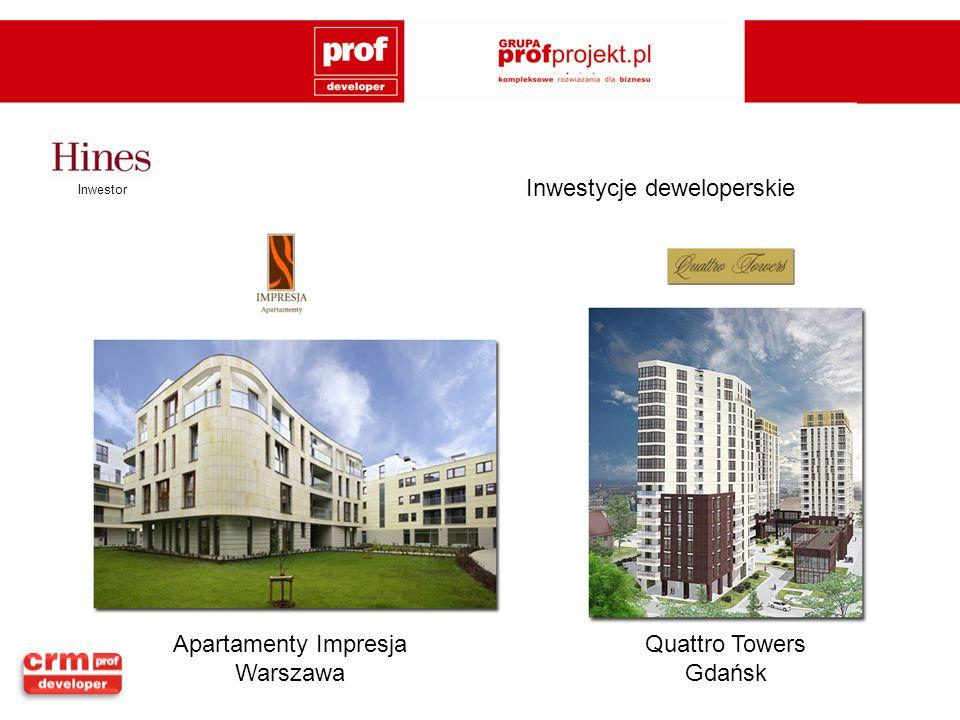 Quattro Towers Gdańsk Inwestor Apartamenty Impresja Warszawa Inwestycje deweloperskie