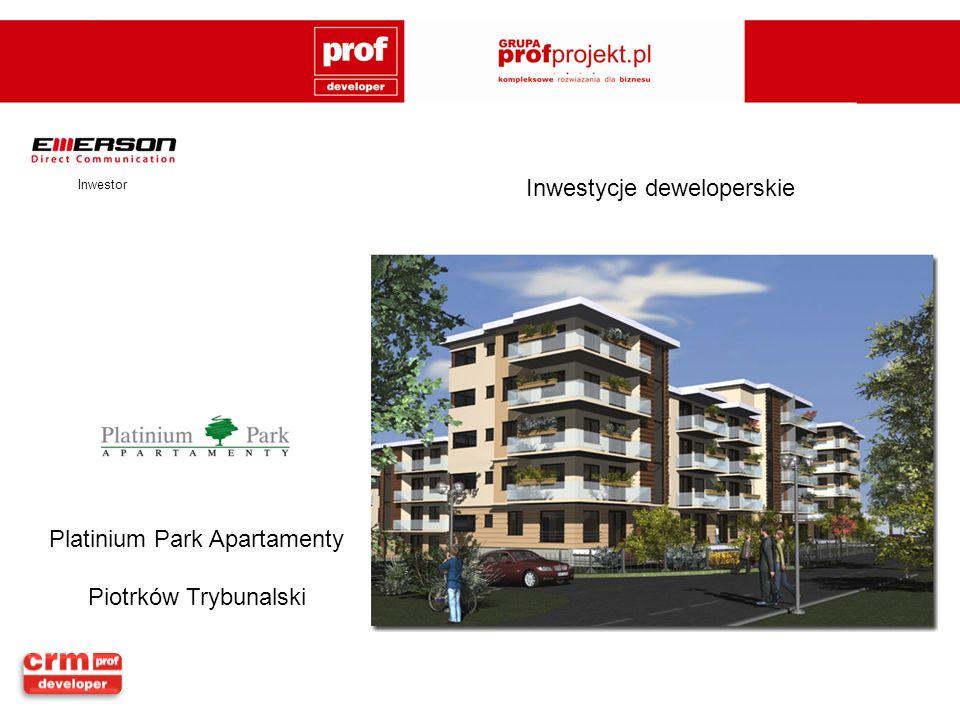 Inwestor Platinium Park Apartamenty Piotrków Trybunalski
