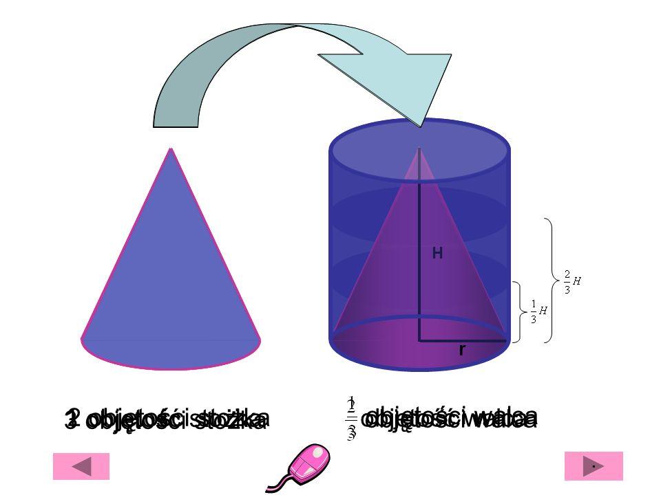 r r r H Przekrój osiowy Przekrój poprzeczny Przekrój jest prostokątem Przekrój jest elipsą INNE PRZEKROJE WALCA · Przekroje walca