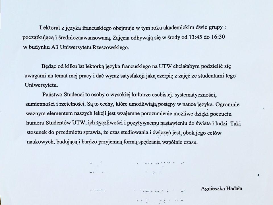 2 GRUPY JĘZYKA FRANCUSKIEGO KIEROWNICY GRUP: Z. KOSZELA - WLAZŁY, K.