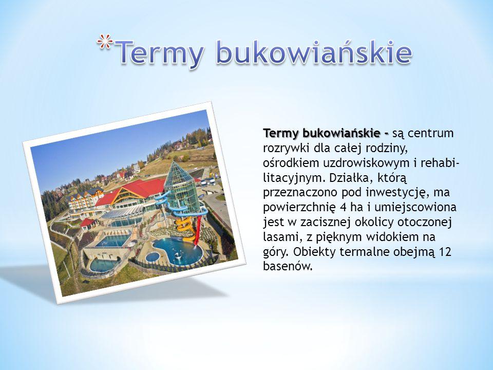 Termy bukowiańskie - Termy bukowiańskie - są centrum rozrywki dla całej rodziny, ośrodkiem uzdrowiskowym i rehabi litacyjnym. Działka, którą prz