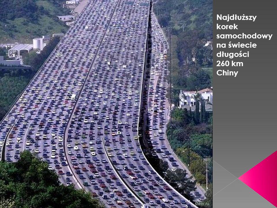 Najdłuższy korek samochodowy na świecie długości 260 km Chiny