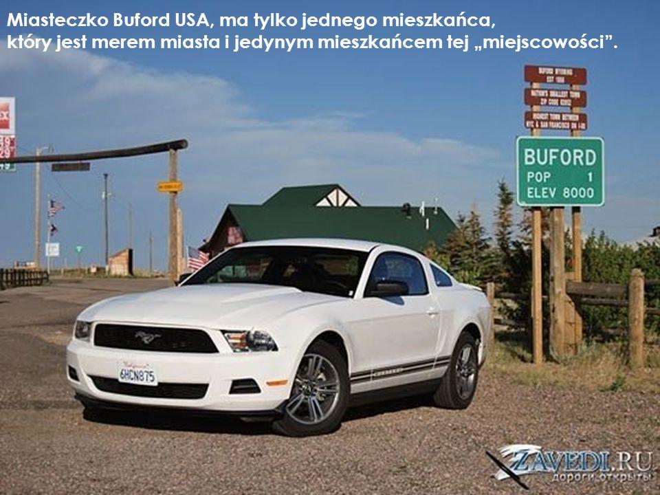 Miasteczko Buford USA, ma tylko jednego mieszkańca, który jest merem miasta i jedynym mieszkańcem tej miejscowości.