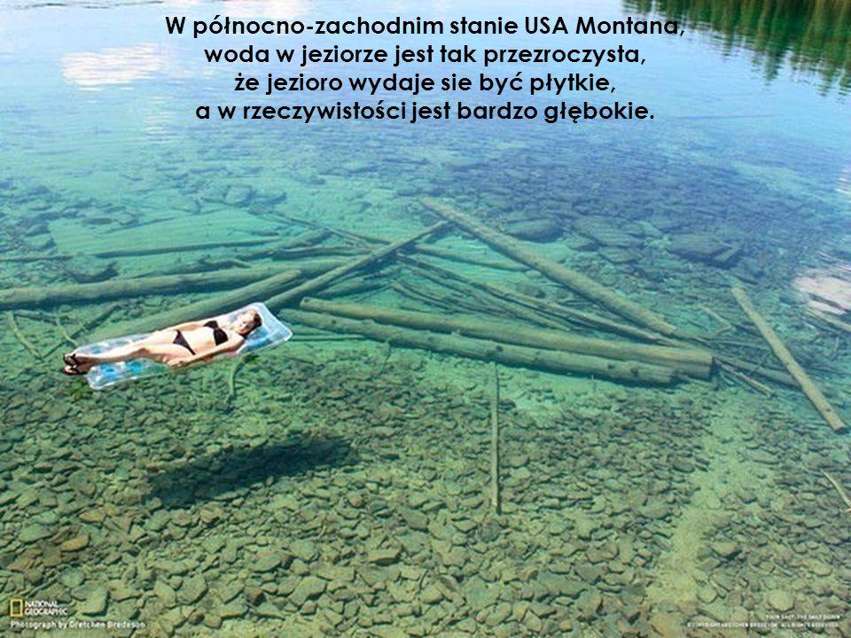W północno-zachodnim stanie USA Montana, woda w jeziorze jest tak przezroczysta, że jezioro wydaje sie być płytkie, a w rzeczywistości jest bardzo głę