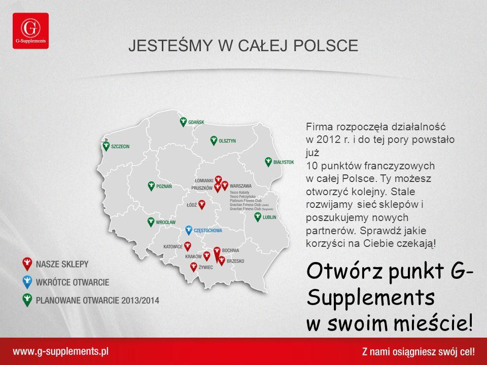Firma rozpoczęła działalność w 2012 r. i do tej pory powstało już 10 punktów franczyzowych w całej Polsce. Ty możesz otworzyć kolejny. Stale rozwijamy