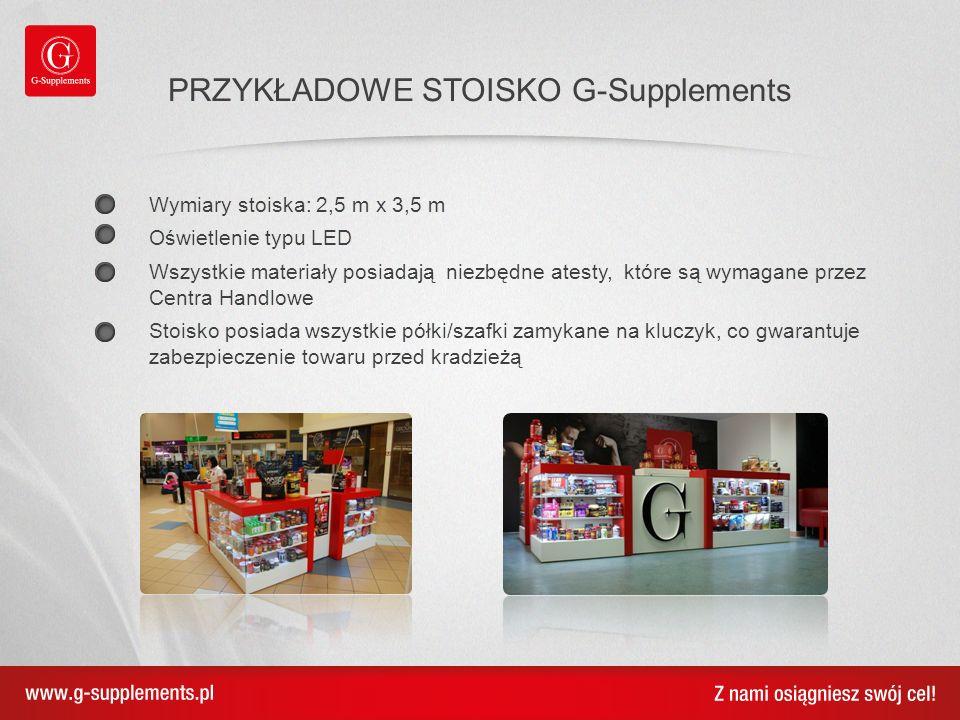 TWOJE SKLEP G-Supplements Jesteśmy elastyczni.Masz pomysł na aranżację Twojego sklepu.