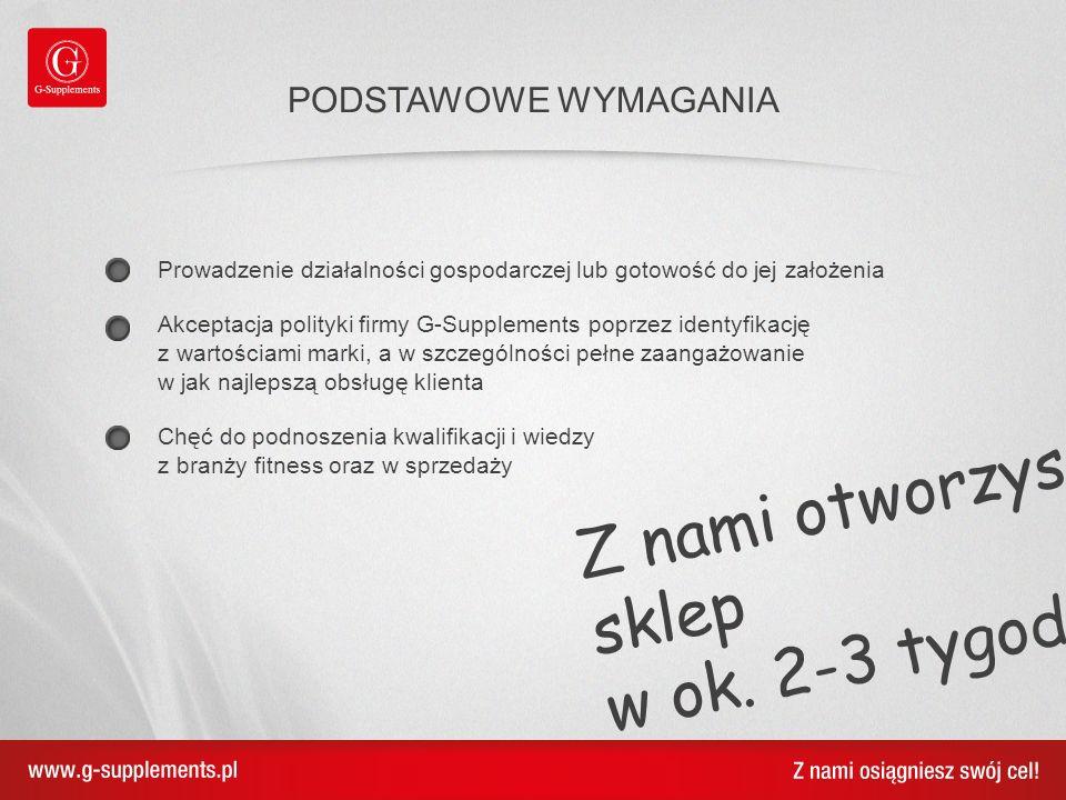 Jarosław Wolski franchise coordinator j.wolski@g-supplements.pl tel.
