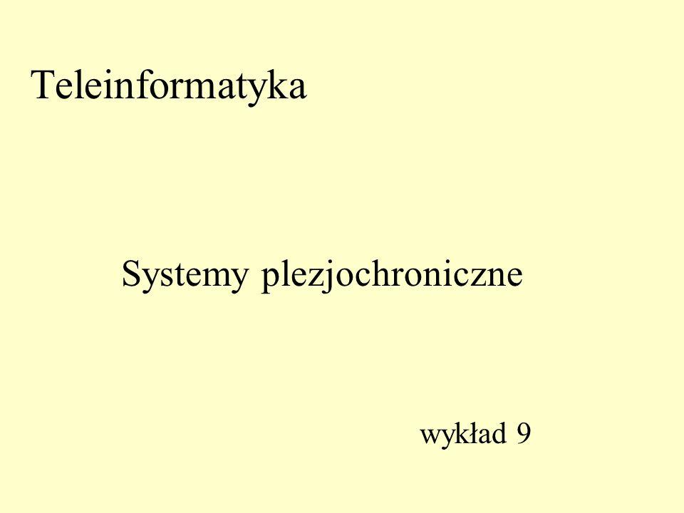 Teleinformatyka wykład 9 Systemy plezjochroniczne