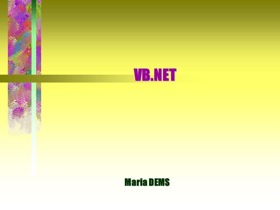 VB.NET Maria DEMS