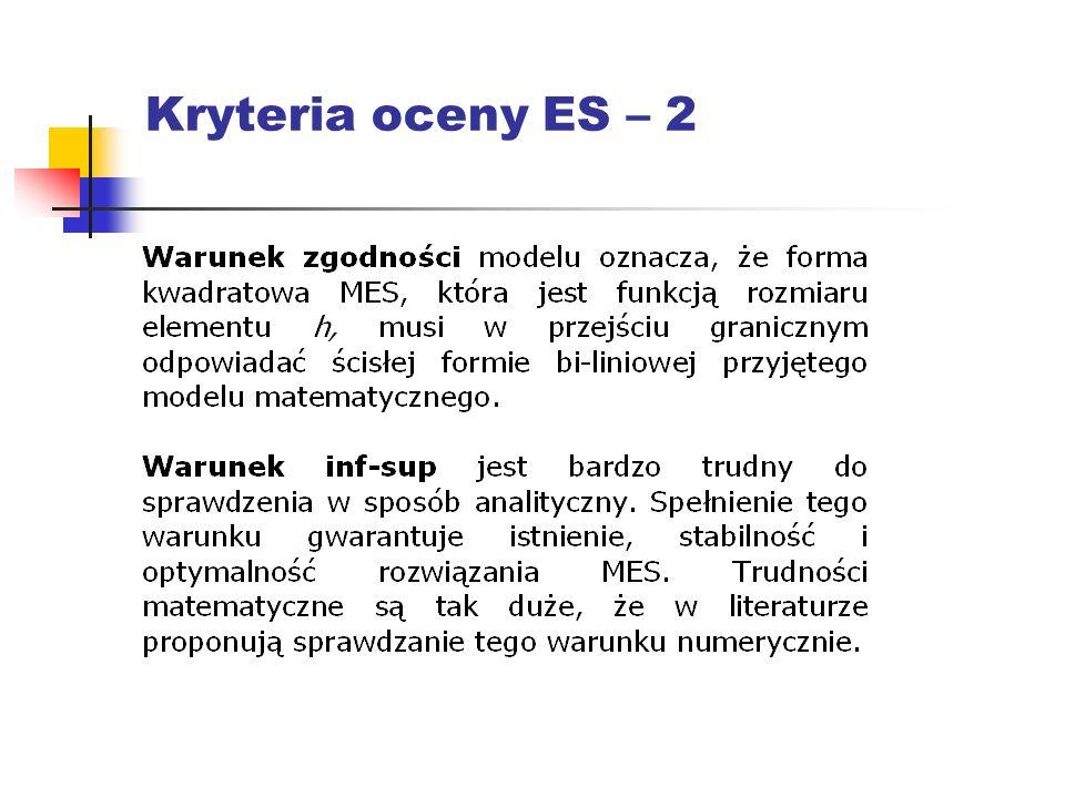 Kryteria oceny ES – 2