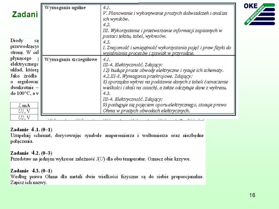 16 Zadanie - Arkusz z fizyki i astronomii poziom rozszerzony, maj 2011