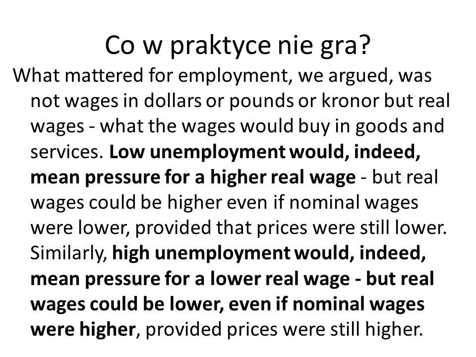 Na nasze… Istotnym elementem nie są więc nominalne wskaźniki inflacji, co postrzeganie wartości pieniądza w kategoriach ocen siły nabywczej, która wraz ze wzrostem inflacji spada.