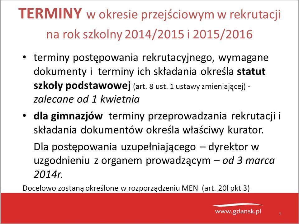 10 Szkoły ponadgimnazjalne Liczba uczniów kl.III gim.