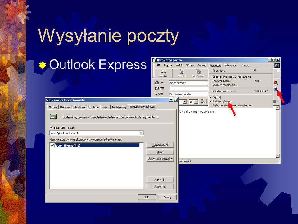 Wysyłanie poczty Outlook Express