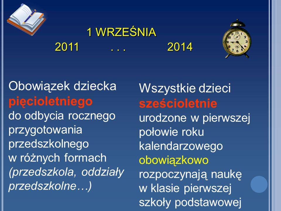 WARTO WIEDZIEĆ Począwszy od 1 września 2009 r.