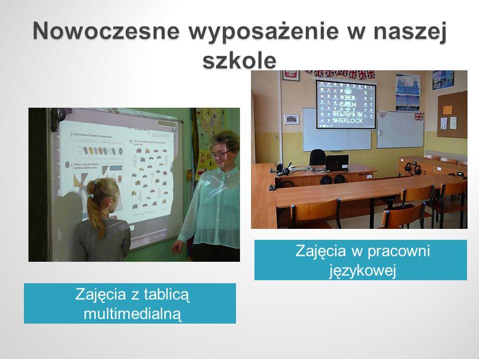 Zajęcia z tablicą multimedialną Zajęcia w pracowni językowej