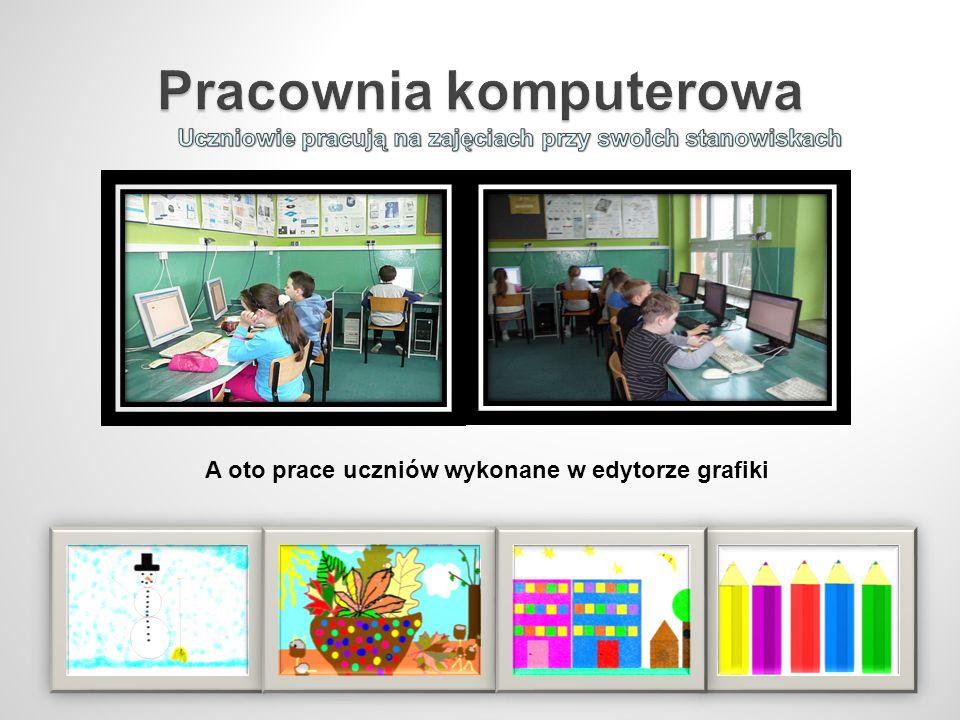 A oto prace uczniów wykonane w edytorze grafiki