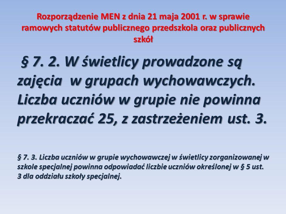 Rozporządzenie MEN z dnia 21 maja 2001 r.