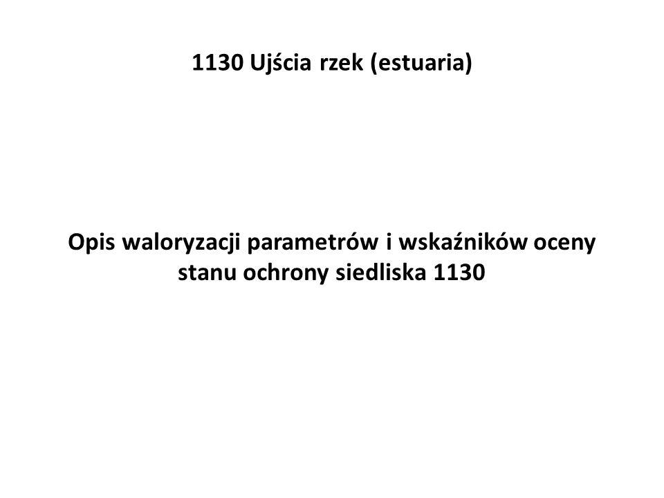 1130 Ujścia rzek (estuaria) Opis waloryzacji parametrów i wskaźników oceny stanu ochrony siedliska 1130