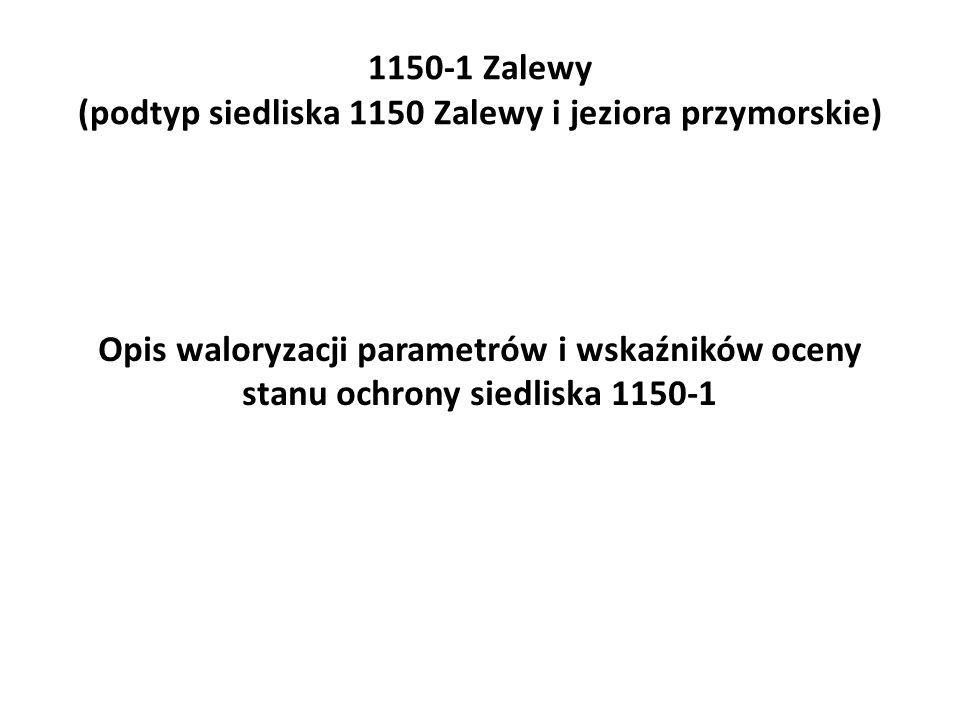 Opis waloryzacji parametrów i wskaźników oceny stanu ochrony siedliska 1150-1