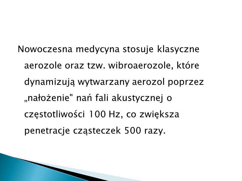 Nowoczesna medycyna stosuje klasyczne aerozole oraz tzw.