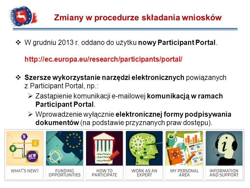 Zarejestruj się w ECAS i zaloguj poprzez Participant Portal.