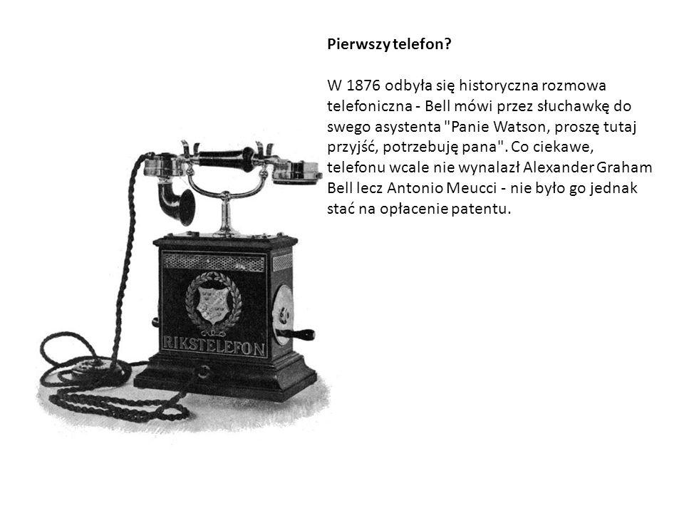 Pierwszy telefon? W 1876 odbyła się historyczna rozmowa telefoniczna - Bell mówi przez słuchawkę do swego asystenta