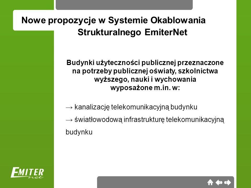 Nowe propozycje w Systemie Okablowania Budynki mieszkalne wielorodzinne, wyposażone m.in.