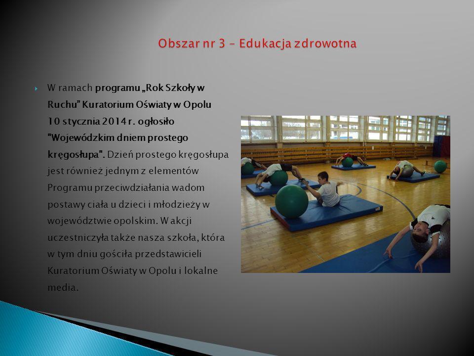 W ramach programu Rok Szkoły w Ruchu Kuratorium Oświaty w Opolu 10 stycznia 2014 r.