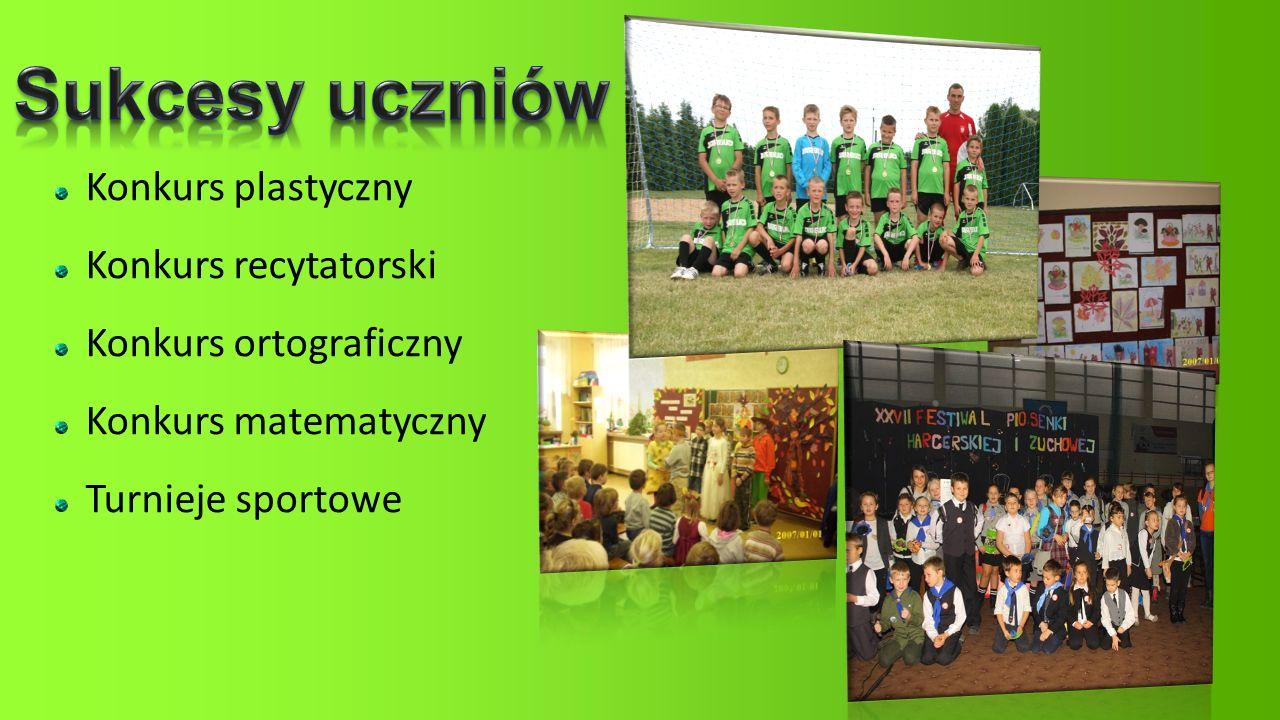 Konkurs plastyczny Konkurs recytatorski Konkurs ortograficzny Konkurs matematyczny Turnieje sportowe
