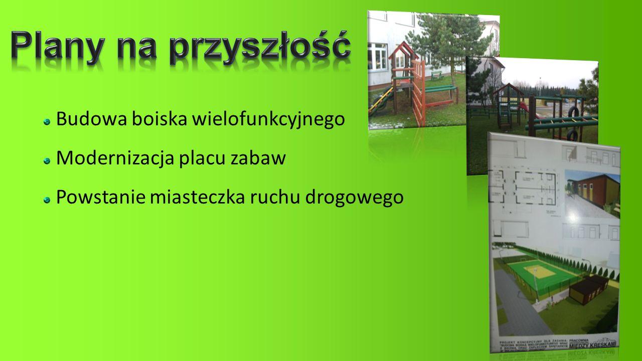 Budowa boiska wielofunkcyjnego Modernizacja placu zabaw Powstanie miasteczka ruchu drogowego