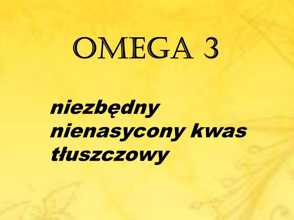 Omega – 3 ma działanie: przeciw-zapalne przeciw-zakrzepowe eliminuje arytmię mięśnia sercowego rozszerza naczynia (krwionośne) Najlepiej przyswajalny omega-3 jest pochodzenia zwierzęcego.