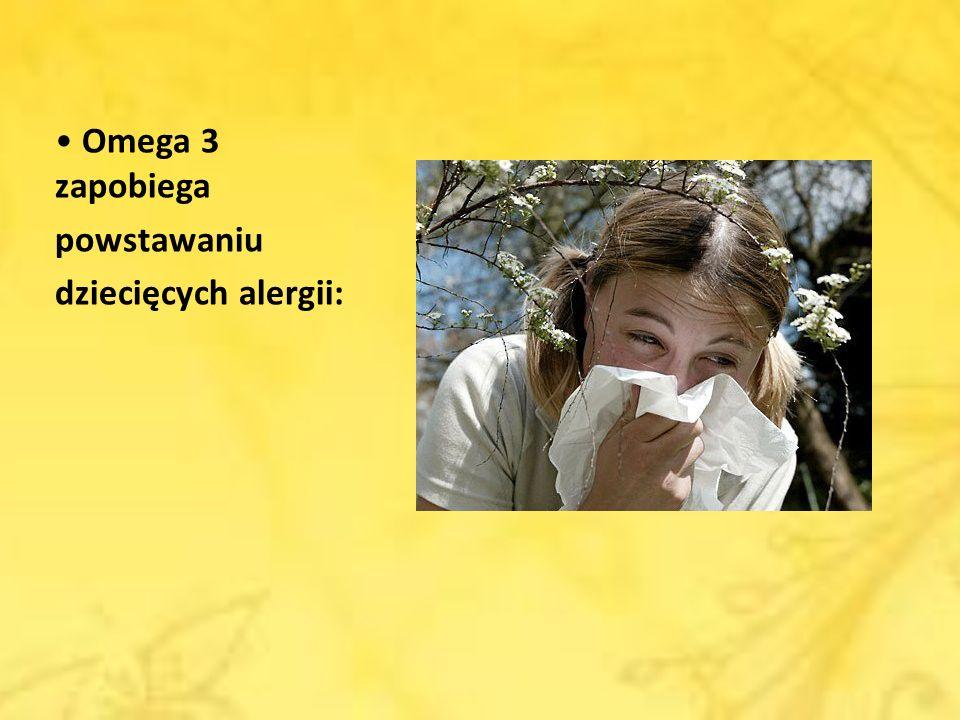 Omega 3 zapobiega powstawaniu dziecięcych alergii: