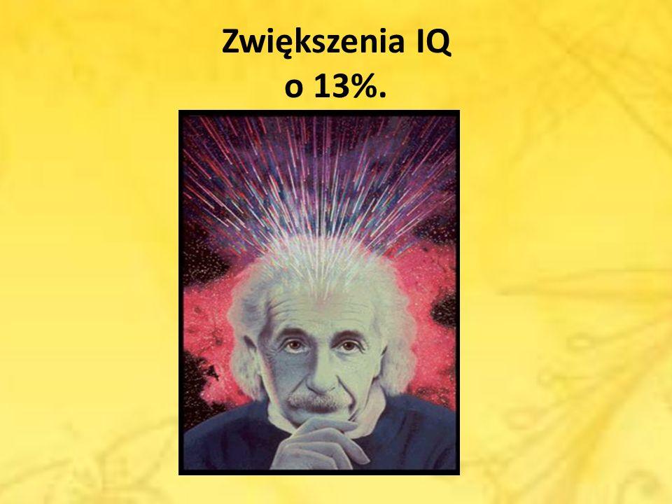 Zwiększenia IQ o 13%.