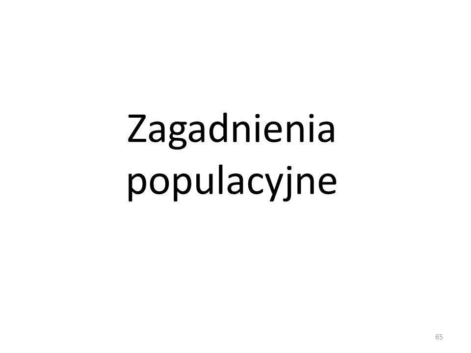 65 Zagadnienia populacyjne