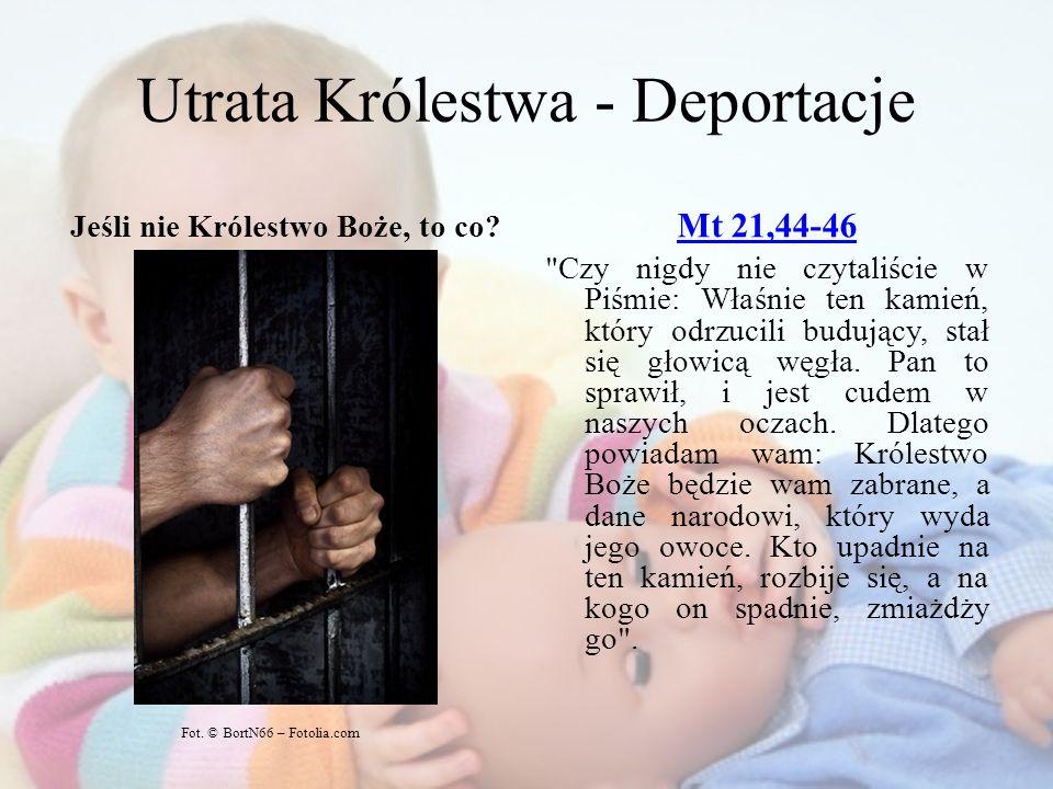 Utrata Królestwa - Deportacje Jeśli nie Królestwo Boże, to co? Mt 21,44-46