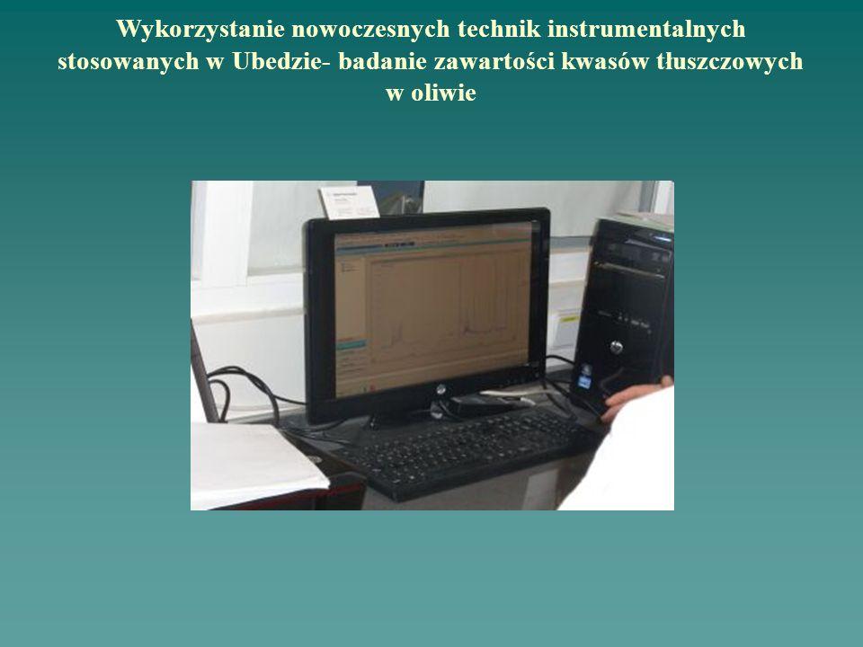 Wykorzystanie nowoczesnych technik instrumentalnych stosowanych w Ubedzie- badanie zawartości kwasów tłuszczowych w oliwie
