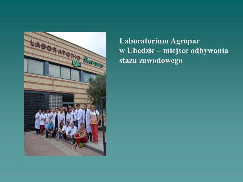 Laboratorium Agropar w Ubedzie – miejsce odbywania stażu zawodowego