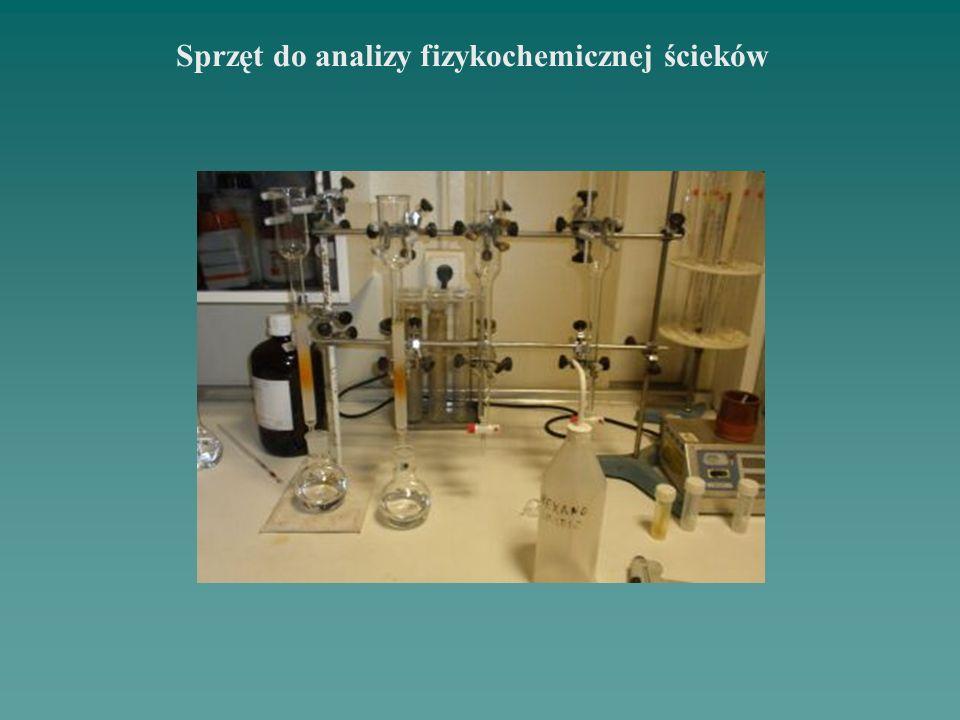 Sprzęt do analizy fizykochemicznej ścieków