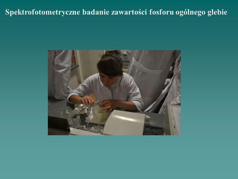 Spektrofotometryczne badanie zawartości fosforu ogólnego glebie