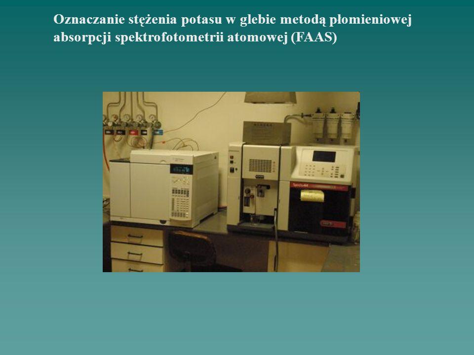 Oznaczanie stężenia potasu w glebie metodą płomieniowej absorpcji spektrofotometrii atomowej (FAAS)