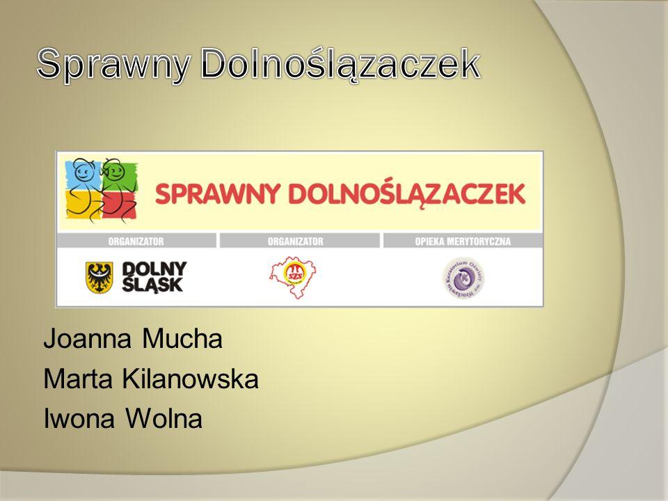Joanna Mucha Marta Kilanowska Iwona Wolna