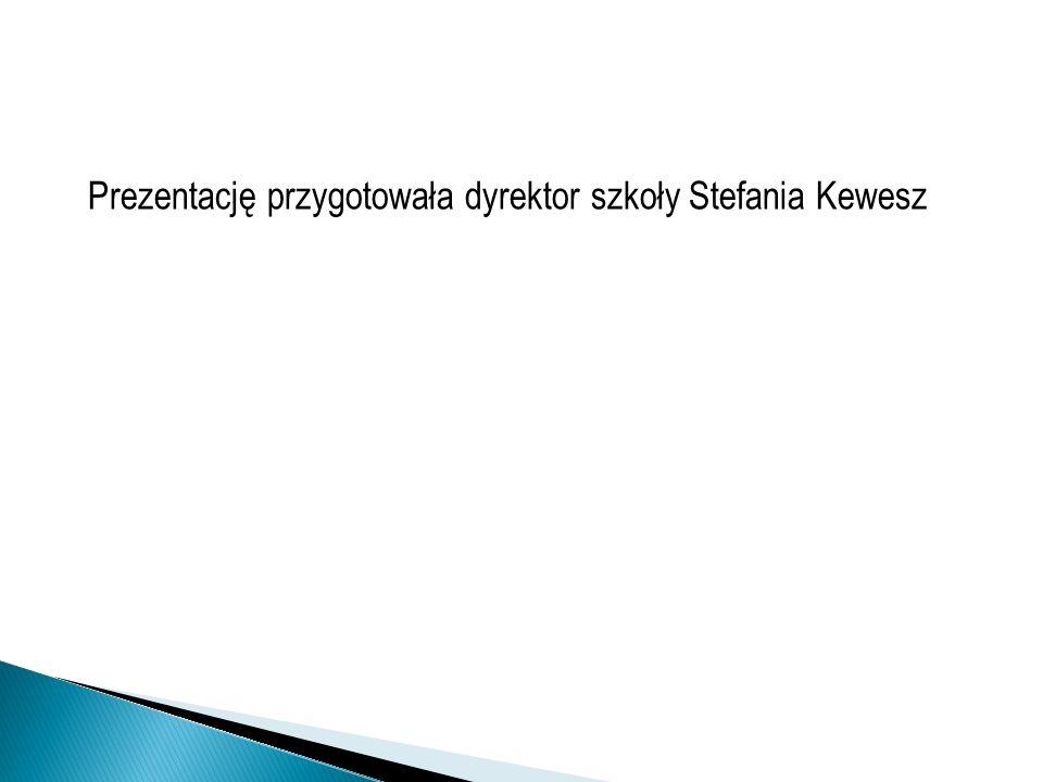 Prezentację przygotowała dyrektor szkoły Stefania Kewesz