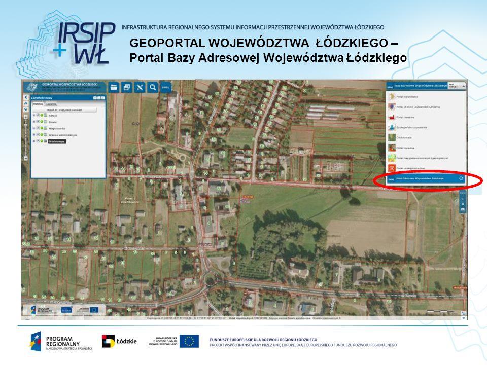 GEOPORTAL WOJEWÓDZTWA ŁÓDZKIEGO – Portal Bazy Adresowej Województwa Łódzkiego