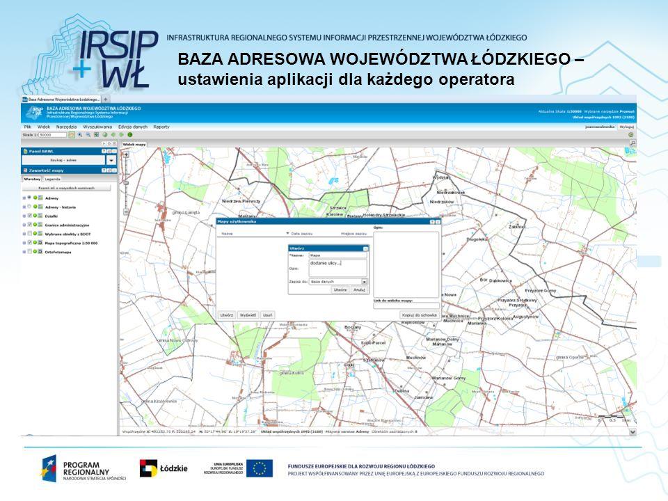 BAZA ADRESOWA WOJEWÓDZTWA ŁÓDZKIEGO – ustawienia aplikacji dla każdego operatora