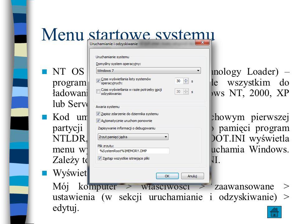 Menu startowe systemu NT OS Loader (NTLDR, New Technology Loader) – program rozruchowy służący przede wszystkim do ładowania systemów Microsoft Window