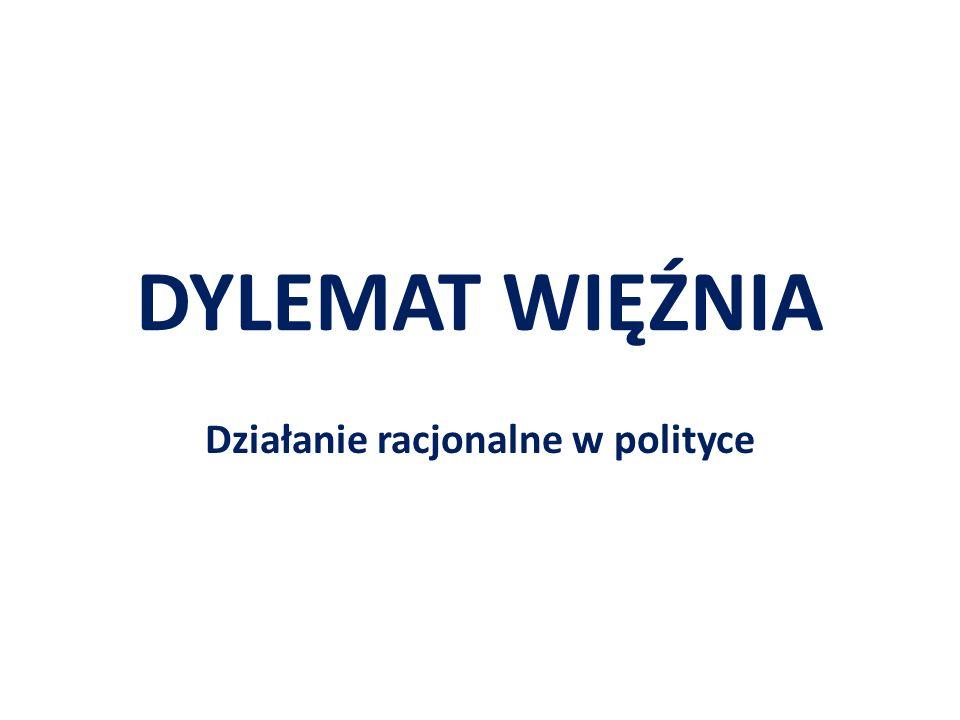 DYLEMAT WIĘŹNIA Działanie racjonalne w polityce