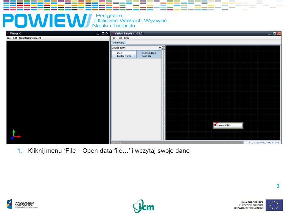1.Kliknij menu File – Open data file… i wczytaj swoje dane 3