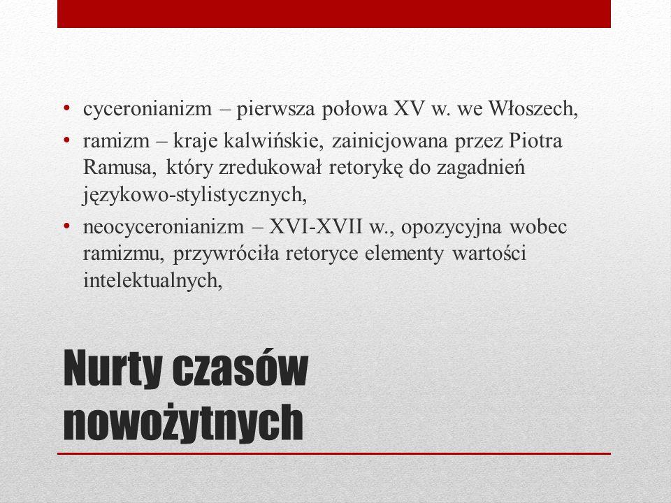 Nurty czasów nowożytnych cyceronianizm – pierwsza połowa XV w.