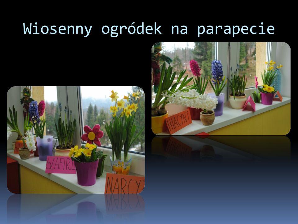 Wiosenny ogródek na parapecie